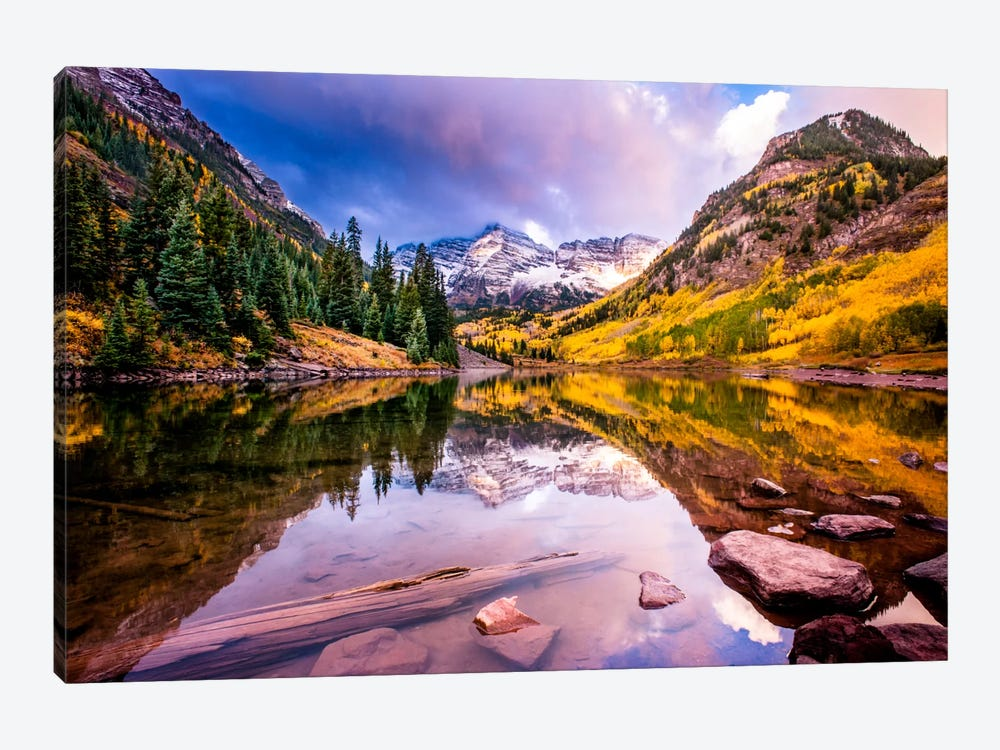 Maroon Bells by Dan Ballard 1-piece Canvas Wall Art