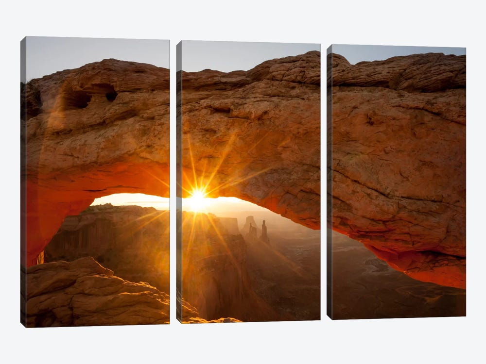Mesa Arch Beauty by Dan Ballard 3-piece Canvas Print