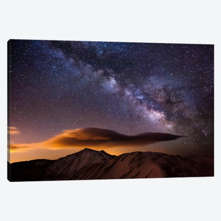 Milky Way Over the Rockies Canvas Print #11588} by Dan Ballard Canvas Wall Art
