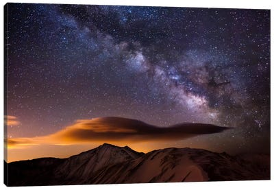 Milky Way Over the Rockies Canvas Art Print