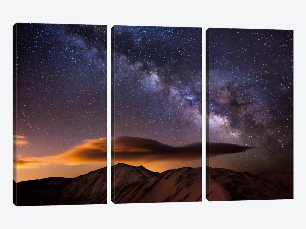 Milky Way Over the Rockies 3-piece Canvas Wall Art