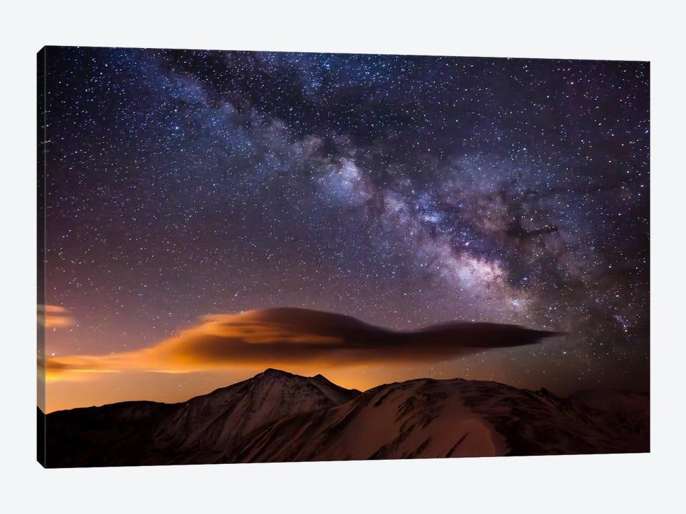 Milky Way Over the Rockies by Dan Ballard 1-piece Canvas Artwork