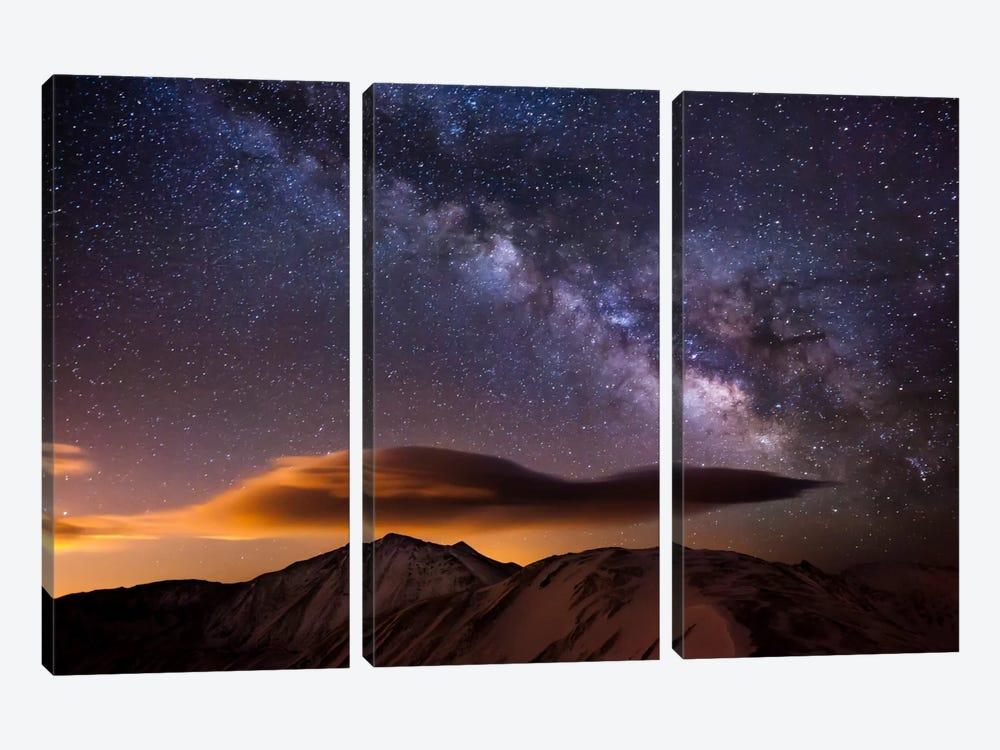 Milky Way Over the Rockies by Dan Ballard 3-piece Canvas Wall Art