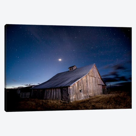 Painted Barn Canvas Print #11593} by Dan Ballard Art Print