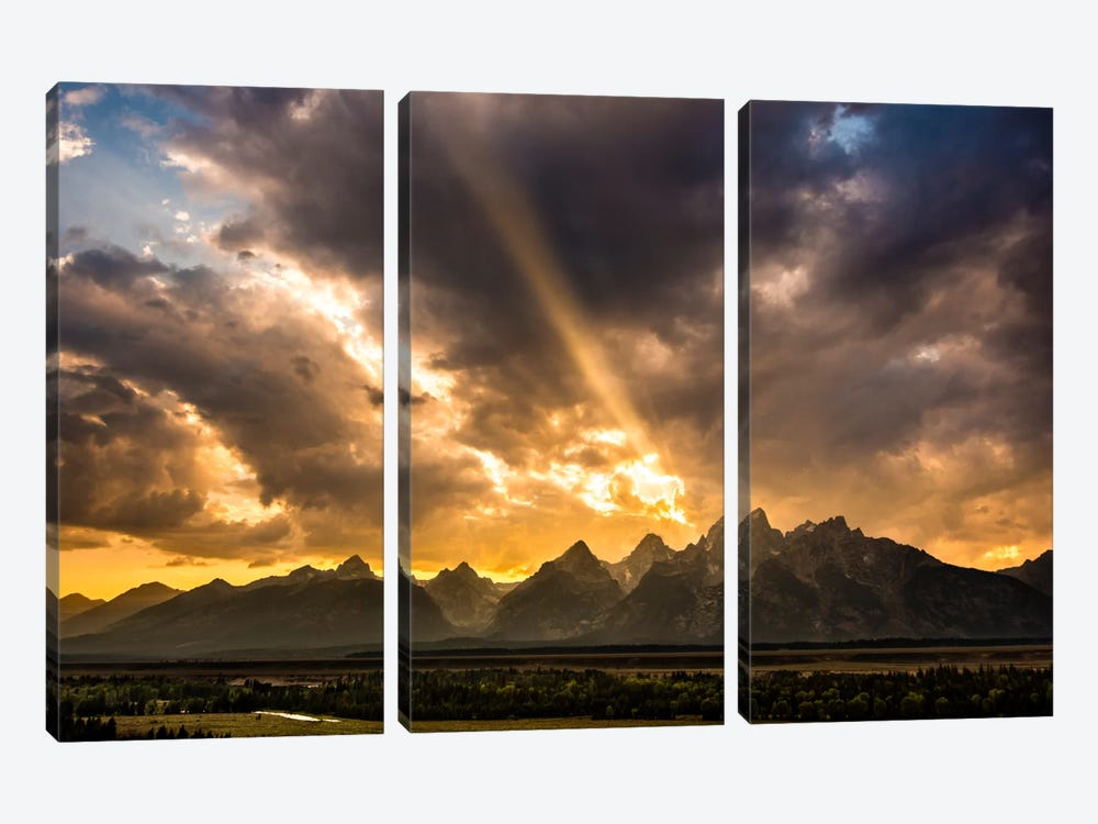 Power of Beauty by Dan Ballard 3-piece Canvas Print