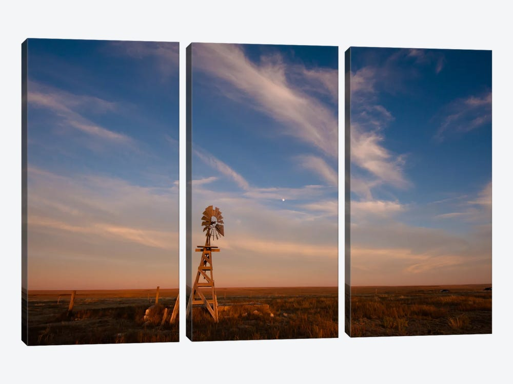 Prarie Glow by Dan Ballard 3-piece Canvas Print