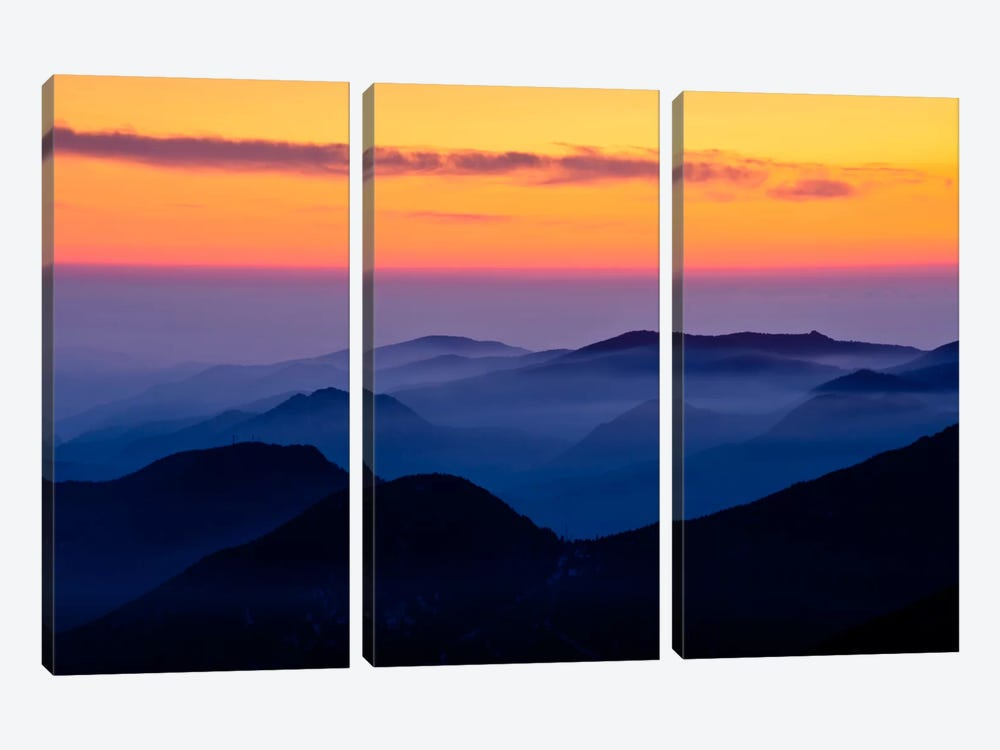 Rising Mist by Dan Ballard 3-piece Canvas Print