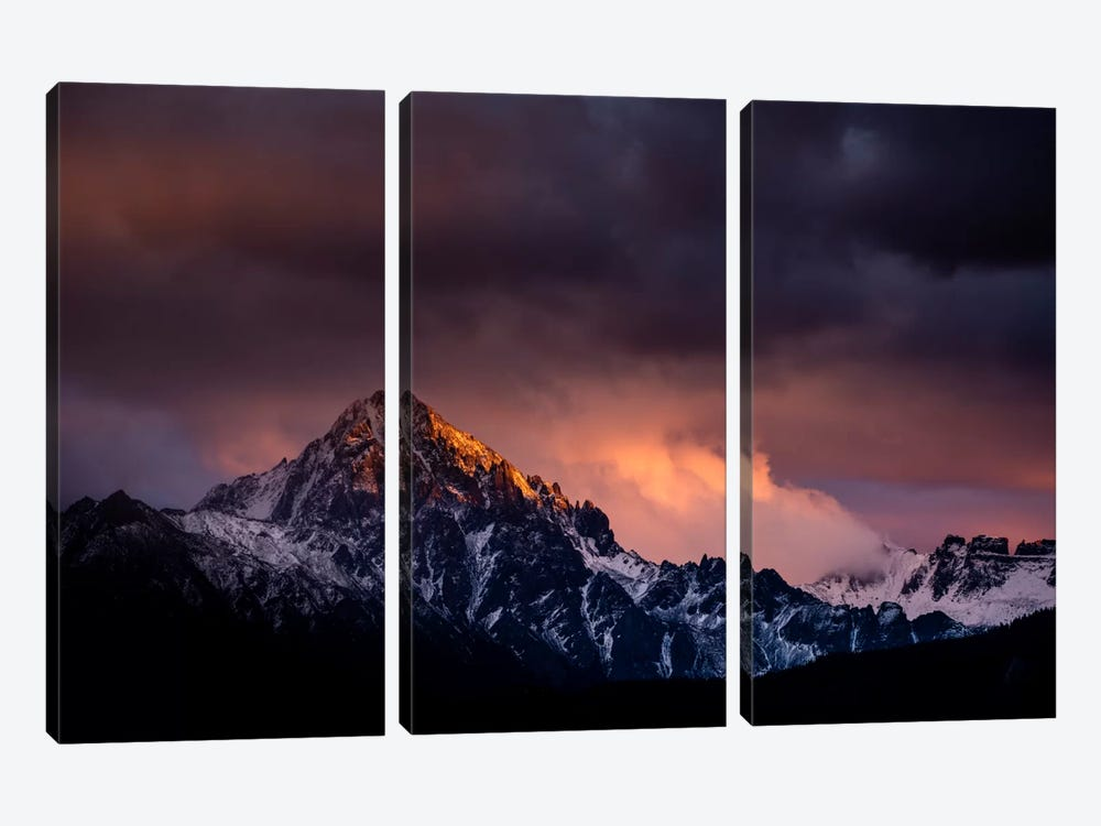 Storm of Fury by Dan Ballard 3-piece Canvas Art Print