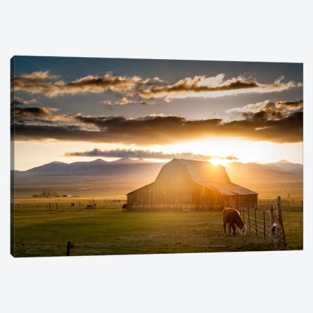 Wet Mountain Barn l Canvas Print #11612} by Dan Ballard Canvas Art