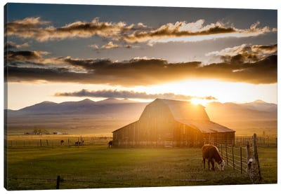 Wet Mountain Barn l Canvas Print #11612