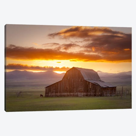 Wet Mountain Barn ll Canvas Print #11613} by Dan Ballard Canvas Wall Art