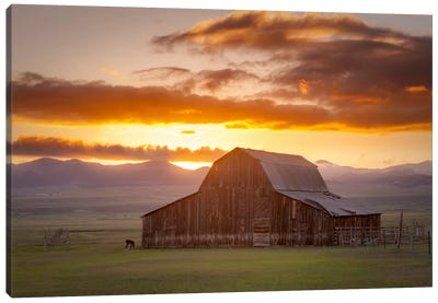 Wet Mountain Barn ll Canvas Art Print