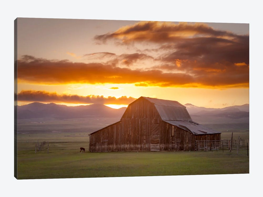 Wet Mountain Barn ll by Dan Ballard 1-piece Canvas Wall Art
