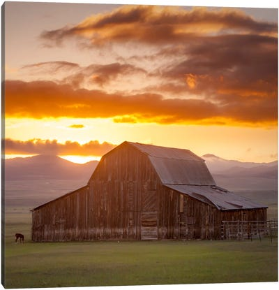 Wet Mountain Barn ll Canvas Print #11613B