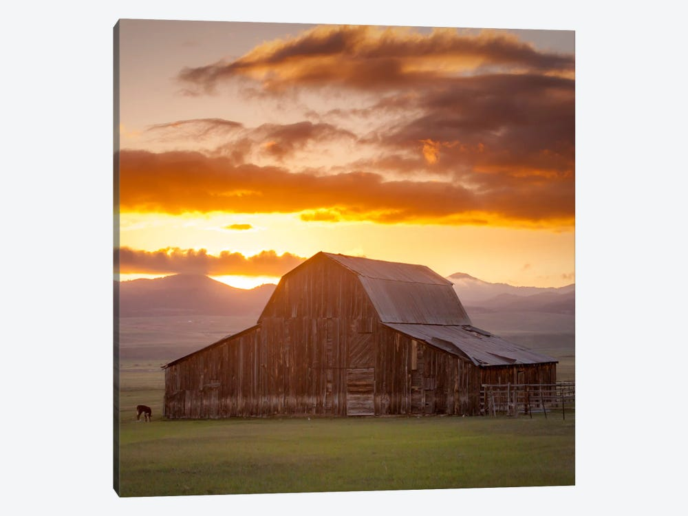 Wet Mountain Barn ll by Dan Ballard 1-piece Canvas Art Print