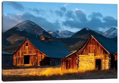 Wet Mountain Valley Sunrise Canvas Print #11614