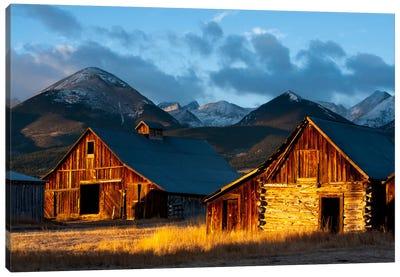 Wet Mountain Valley Sunrise Canvas Art Print
