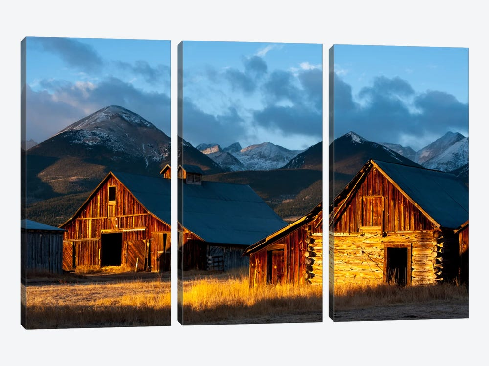 Wet Mountain Valley Sunrise by Dan Ballard 3-piece Canvas Art Print