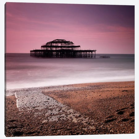 Brighton Pier Canvas Print #11618} by Nina Papiorek Canvas Artwork