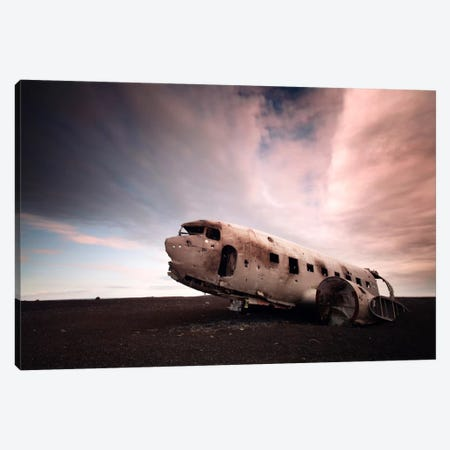 Iceland Plane Wreck Canvas Print #11622} by Nina Papiorek Canvas Art Print