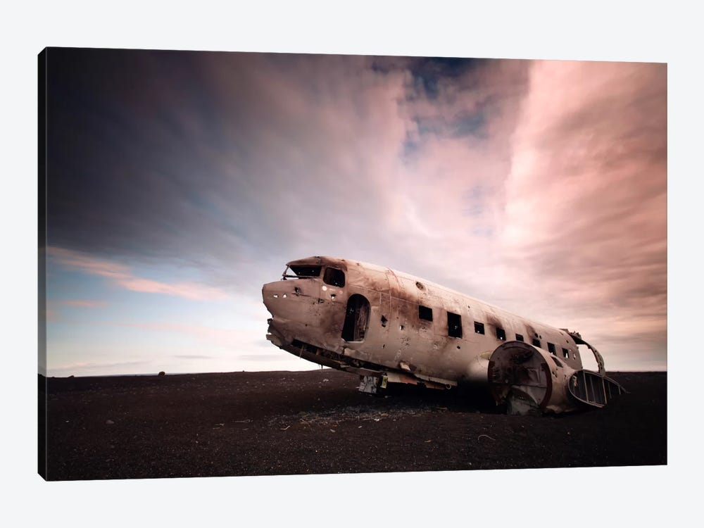 Iceland Plane Wreck by Nina Papiorek 1-piece Canvas Wall Art