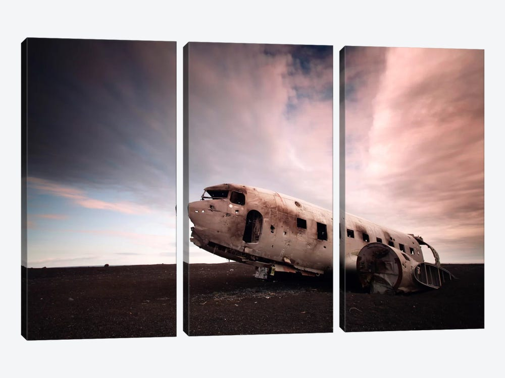Iceland Plane Wreck by Nina Papiorek 3-piece Canvas Art