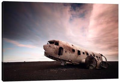 Iceland Plane Wreck Canvas Art Print