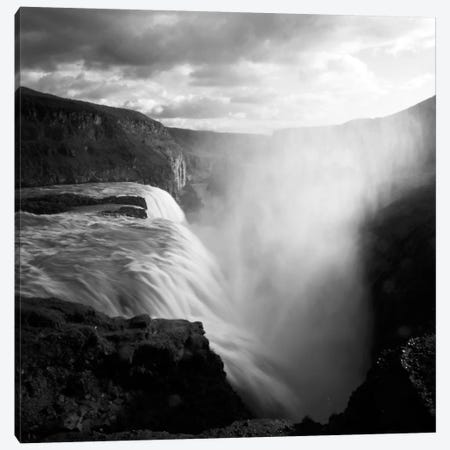 Iceland Gullfoss Canvas Print #11625} by Nina Papiorek Canvas Artwork