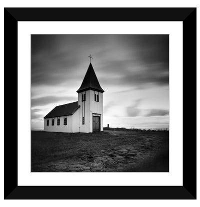 Iceland Hellnar Church Framed Art Print