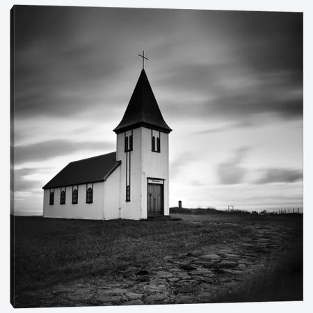 Iceland Hellnar Church Canvas Print #11626} by Nina Papiorek Canvas Artwork