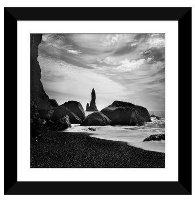 Iceland Vik Rocks Framed Art Print