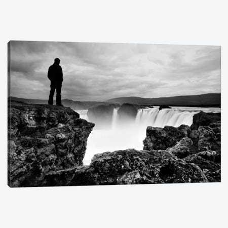 Iceland Waterfall Canvas Print #11630} by Nina Papiorek Canvas Art