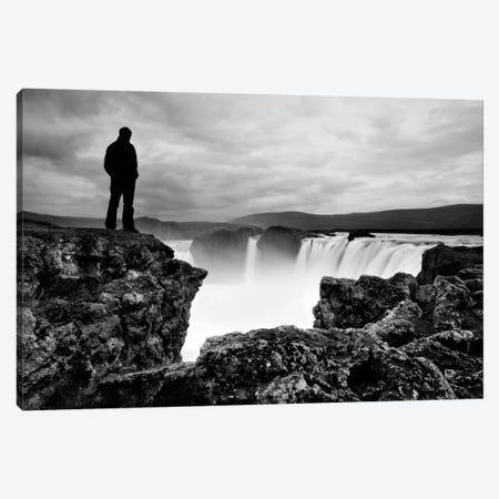 Iceland Waterfall Canvas Print #11630} by Nina Papiorek Canvas Art