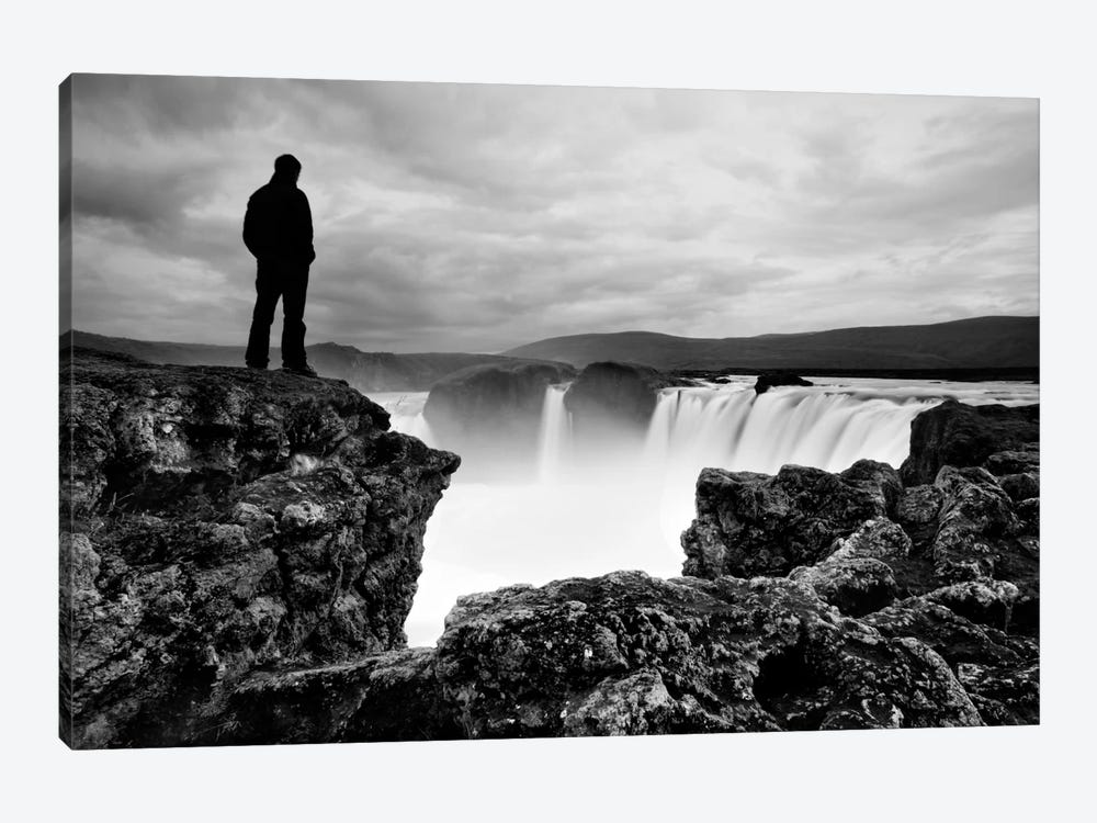 Iceland Waterfall by Nina Papiorek 1-piece Canvas Art Print