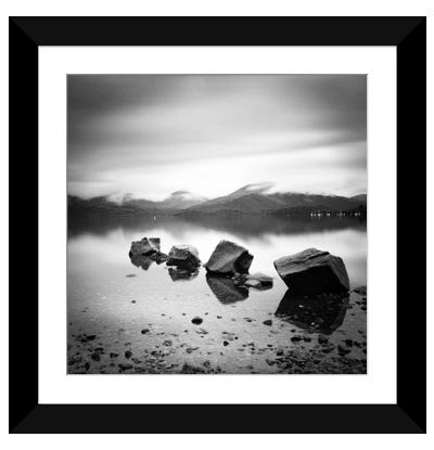 Lomond Rocks Framed Art Print