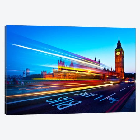 London Big Ben Canvas Print #11634} by Nina Papiorek Canvas Art Print