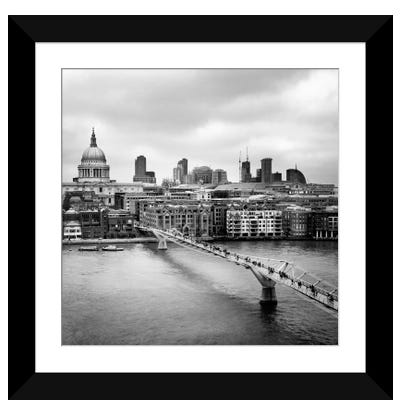 London Millenium Bridge Framed Art Print