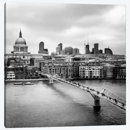 London Millenium Bridge Canvas Print #11635} by Nina Papiorek Canvas Art Print