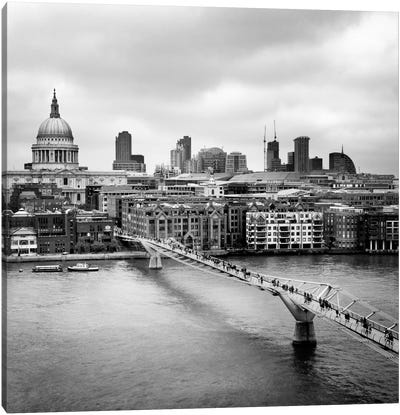 London Millenium Bridge Canvas Art Print