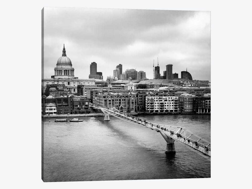 London Millenium Bridge by Nina Papiorek 1-piece Canvas Wall Art