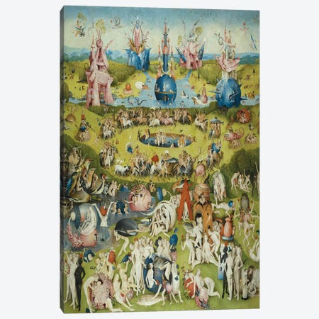 Full Central Panel from The Garden of Earthly Delights Canvas Print #1163} by Hieronymus Bosch Canvas Art Print