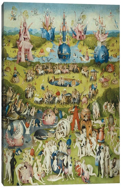 Full Central Panel from The Garden of Earthly Delights by Hieronymus Bosch Canvas Art Print