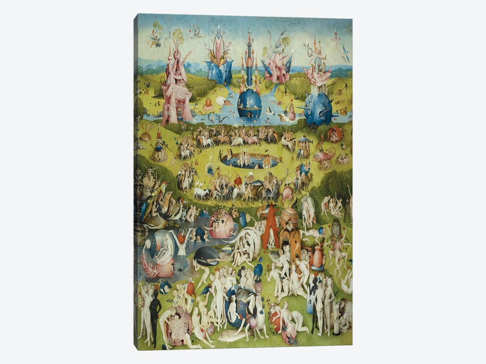 Full Central Panel from The Garden of Earthly Delights by Hieronymus Bosch 1-piece Canvas Wall Art