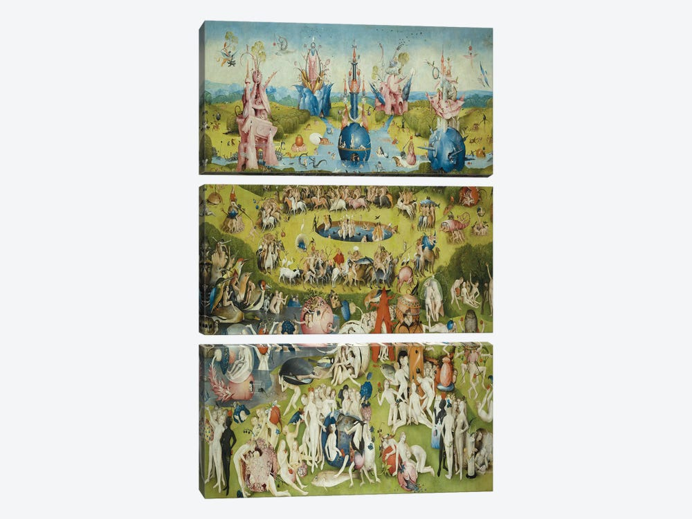 Full Central Panel from The Garden of Earthly Delights by Hieronymus Bosch 3-piece Canvas Artwork