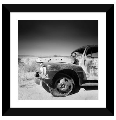 Namibia Rotten Car Framed Art Print