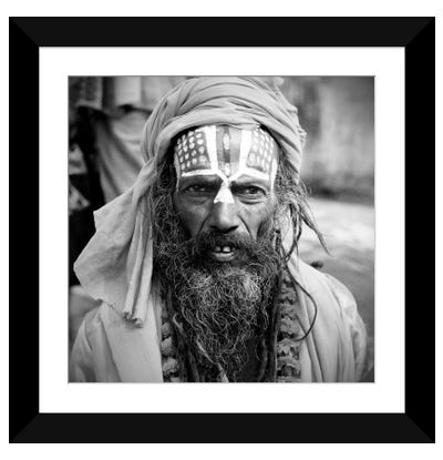Nepal Saddhu I Framed Art Print