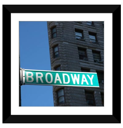 NYC Broadway Framed Art Print