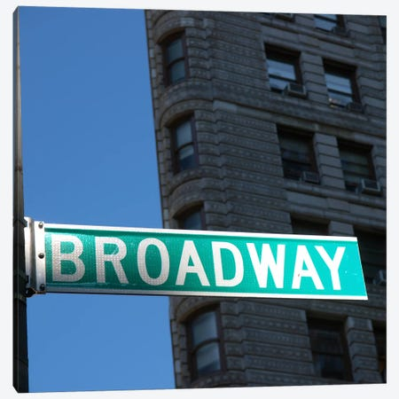 NYC Broadway Canvas Print #11646} by Nina Papiorek Canvas Wall Art