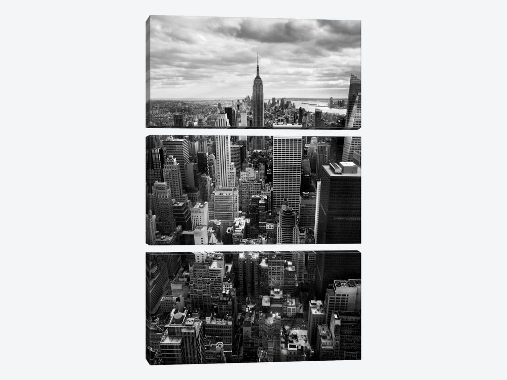 NYC Downtown II by Nina Papiorek 3-piece Canvas Art Print