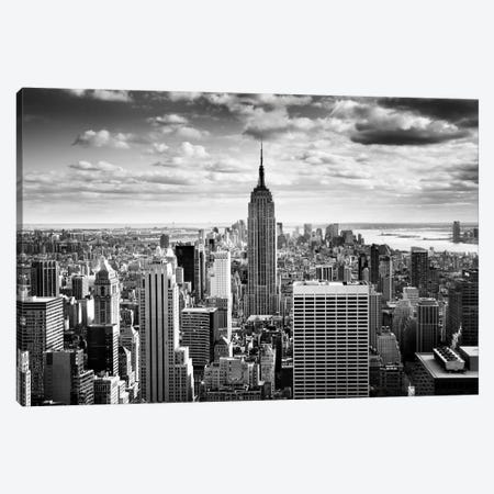 NYC Downtown Canvas Print #11649} by Nina Papiorek Art Print